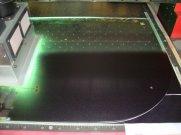 Процесс УФ печати на стекле.